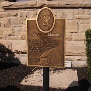 Abraham Lincoln - - Danville Presbyterian Church Marker